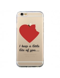 Coque I keep a little bite of you Love Heart Amour Transparente pour iPhone 6 et 6S - Julien Martinez