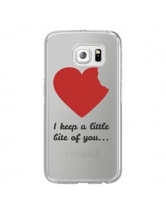 Coque I keep a little bite of you Love Heart Amour Transparente pour Samsung Galaxy S6 Edge - Julien Martinez