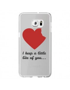 Coque I keep a little bite of you Love Heart Amour Transparente pour Samsung Galaxy S6 Edge Plus - Julien Martinez