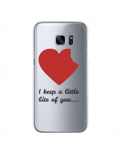 Coque I keep a little bite of you Love Heart Amour Transparente pour Samsung Galaxy S7 - Julien Martinez