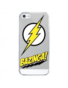Coque Bazinga Sheldon The Big Bang Thoery Transparente pour iPhone 5/5S et SE - Jonathan Perez