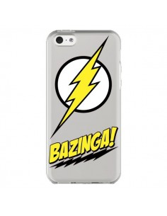 Coque Bazinga Sheldon The Big Bang Thoery Transparente pour iPhone 5C - Jonathan Perez