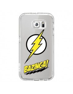 Coque Bazinga Sheldon The Big Bang Thoery Transparente pour Samsung Galaxy S6 - Jonathan Perez