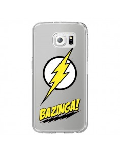Coque Bazinga Sheldon The Big Bang Thoery Transparente pour Samsung Galaxy S6 Edge - Jonathan Perez