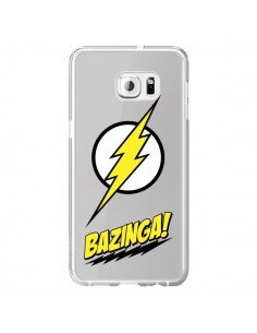 Coque Bazinga Sheldon The Big Bang Thoery Transparente pour Samsung Galaxy S6 Edge Plus - Jonathan Perez