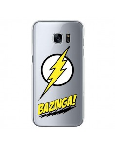 Coque Bazinga Sheldon The Big Bang Thoery Transparente pour Samsung Galaxy S7 - Jonathan Perez
