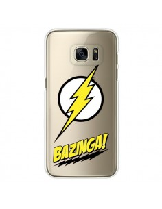Coque Bazinga Sheldon The Big Bang Thoery Transparente pour Samsung Galaxy S7 Edge - Jonathan Perez