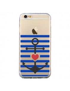 Coque Mariniere Ancre Marin Coeur Transparente pour iPhone 6 et 6S - Jonathan Perez