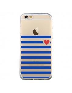 Coque Mariniere Coeur Love Transparente pour iPhone 6 et 6S - Jonathan Perez