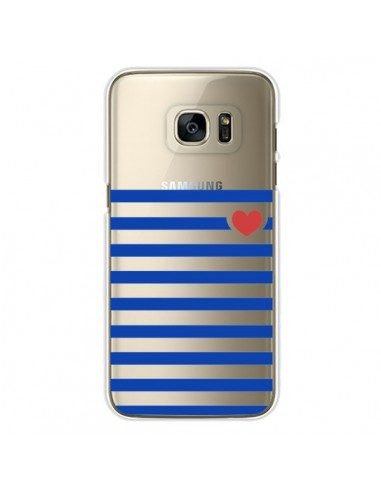 Coque Mariniere Coeur Love Transparente pour Samsung Galaxy S7 Edge - Jonathan Perez