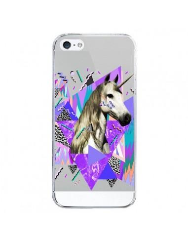 Coque iPhone 5/5S et SE Licorne Unicorn Azteque Transparente - Kris Tate