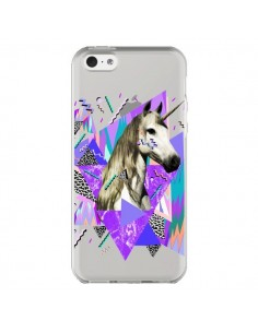 Coque iPhone 5C Licorne Unicorn Azteque Transparente - Kris Tate