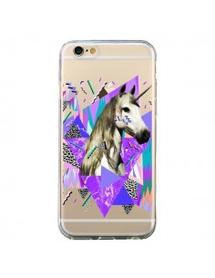 Coque iPhone 6 et 6S Licorne Unicorn Azteque Transparente - Kris Tate