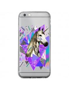 Coque iPhone 6 Plus et 6S Plus Licorne Unicorn Azteque Transparente - Kris Tate