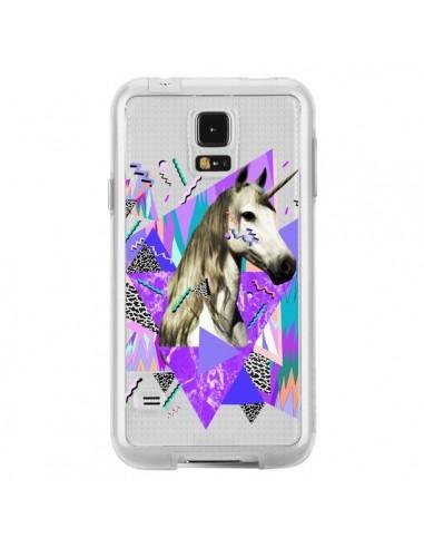 Coque Licorne Unicorn Azteque Transparente pour Samsung Galaxy S5 - Kris Tate