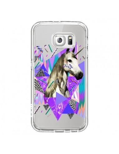 Coque Licorne Unicorn Azteque Transparente pour Samsung Galaxy S6 - Kris Tate