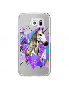 Coque Licorne Unicorn Azteque Transparente pour Samsung Galaxy S6 Edge - Kris Tate