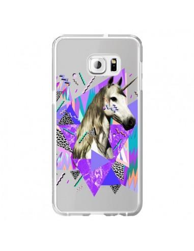 Coque Licorne Unicorn Azteque Transparente pour Samsung Galaxy S6 Edge Plus - Kris Tate