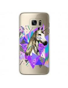 Coque Licorne Unicorn Azteque Transparente pour Samsung Galaxy S7 Edge - Kris Tate