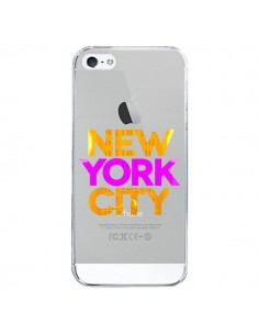 Coque New York City NYC Orange Rose Transparente pour iPhone 5/5S et SE - Javier Martinez