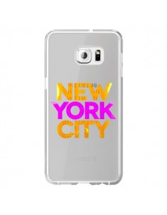 Coque New York City NYC Orange Rose Transparente pour Samsung Galaxy S6 Edge Plus - Javier Martinez