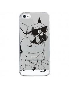 Coque iPhone 5/5S et SE Chien Bulldog Dog Transparente - Yohan B.