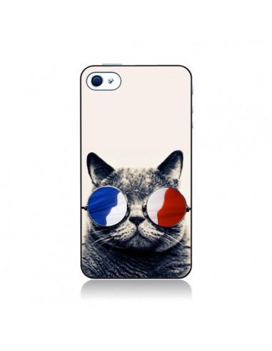 Coque Chat à lunettes françaises pour iPhone 4 et 4S