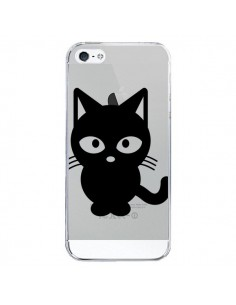 Coque Chat Noir Cat Transparente pour iPhone 5/5S et SE - Yohan B.
