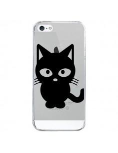 Coque iPhone 5/5S et SE Chat Noir Cat Transparente - Yohan B.