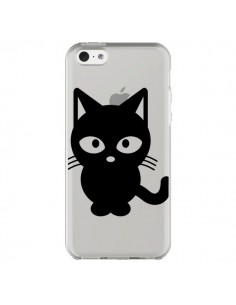 Coque Chat Noir Cat Transparente pour iPhone 5C - Yohan B.