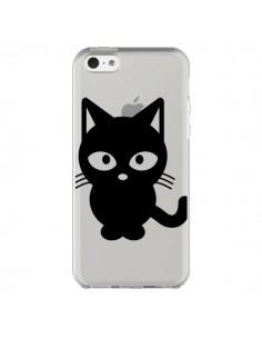 Coque iPhone 5C Chat Noir Cat Transparente - Yohan B.