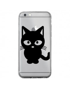 Coque Chat Noir Cat Transparente pour iPhone 6 Plus et 6S Plus - Yohan B.
