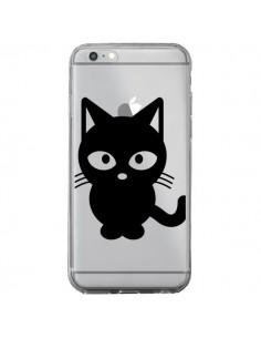 Coque iPhone 6 Plus et 6S Plus Chat Noir Cat Transparente - Yohan B.