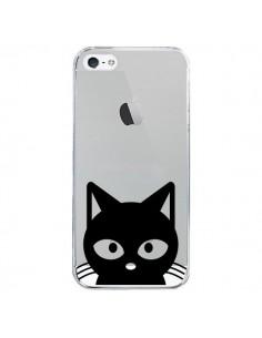 Coque Tête Chat Noir Cat Transparente pour iPhone 5/5S et SE - Yohan B.