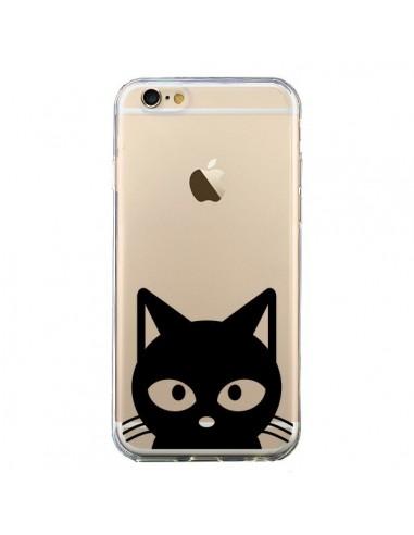 Coque Tête Chat Noir Cat Transparente pour iPhone 6 et 6S - Yohan B.