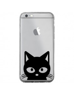 Coque iPhone 6 Plus et 6S Plus Tête Chat Noir Cat Transparente - Yohan B.