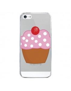 Coque iPhone 5/5S et SE Cupcake Cerise Transparente - Yohan B.