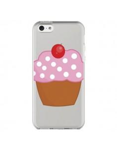 Coque iPhone 5C Cupcake Cerise Transparente - Yohan B.