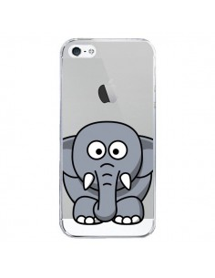 Coque Elephant Animal Transparente pour iPhone 5/5S et SE - Yohan B.