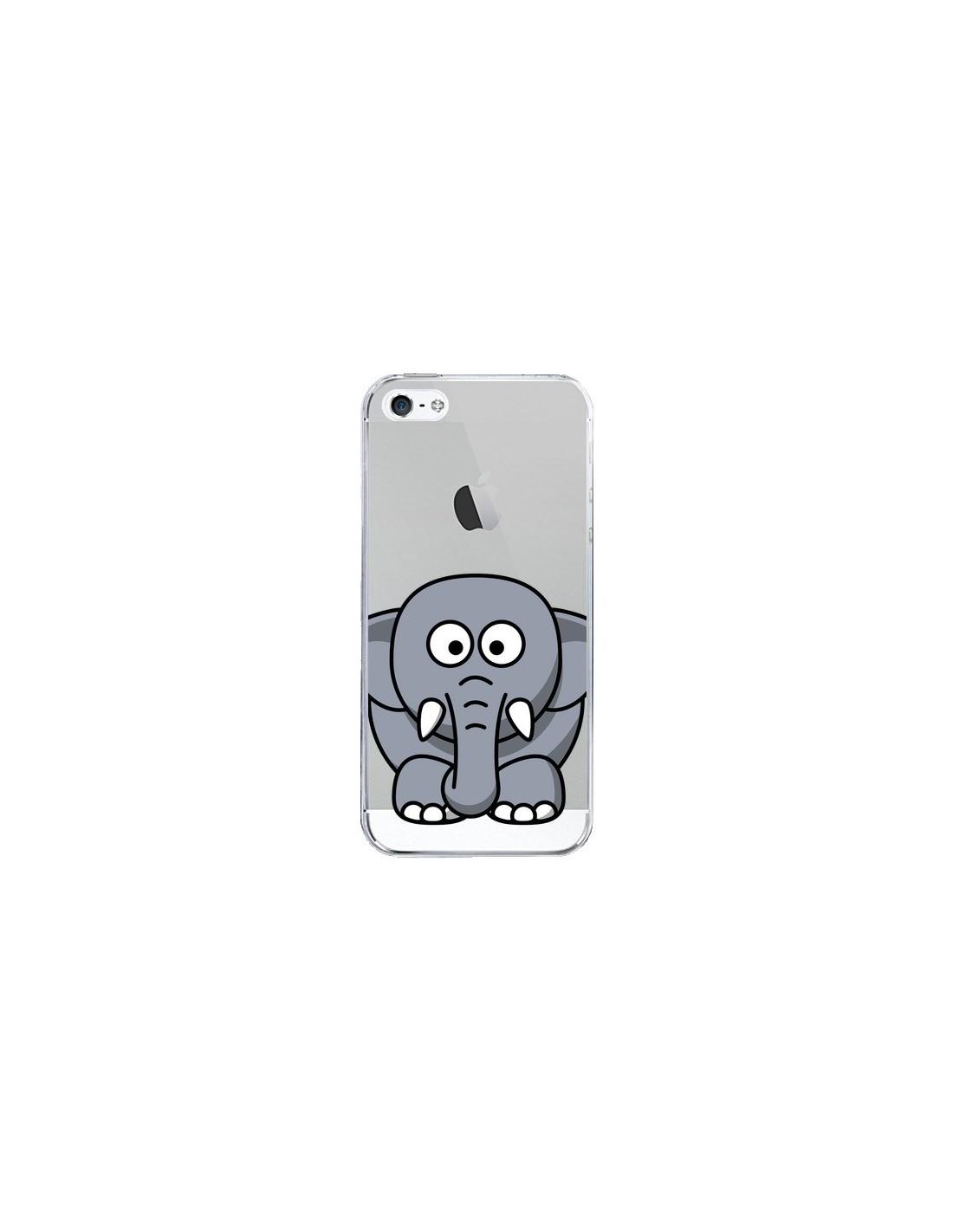 coque elephant animal transparente pour iphone 5 5s et se yohan b. Black Bedroom Furniture Sets. Home Design Ideas