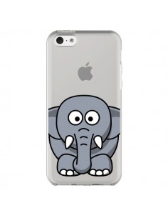 Coque Elephant Animal Transparente pour iPhone 5C - Yohan B.