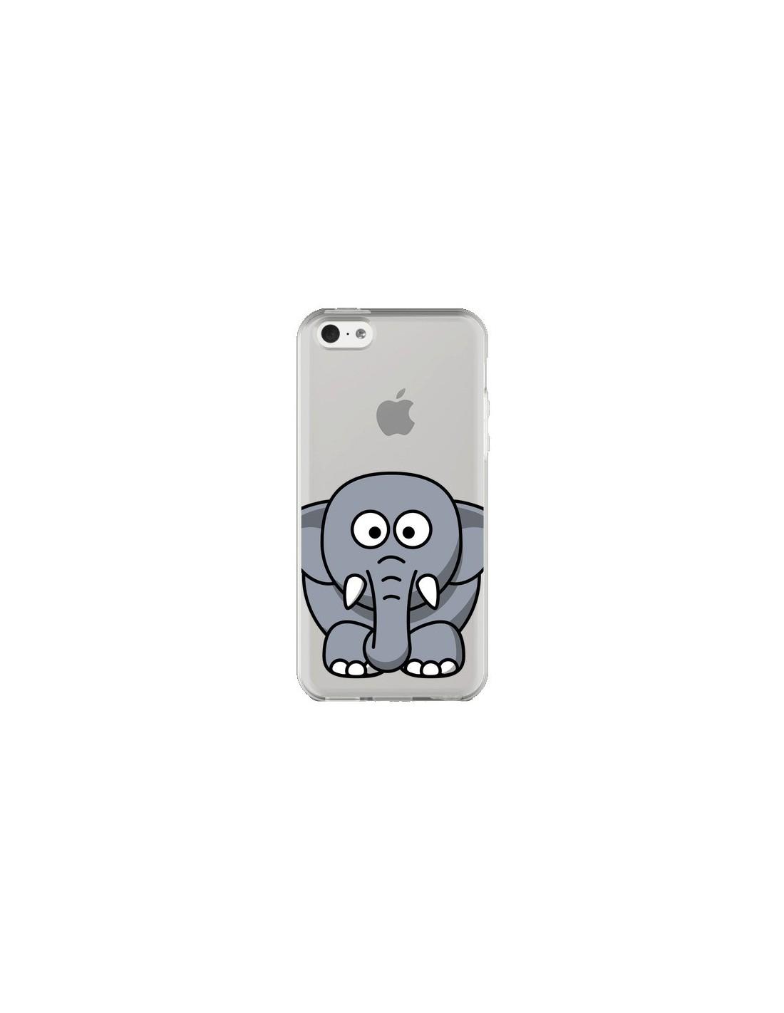 coque iphone 5c elephant animal transparente yohan b