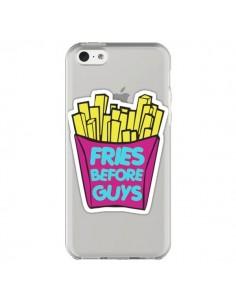 Coque iPhone 5C Fries Before Guys Transparente - Yohan B.