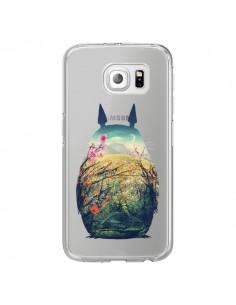 Coque Totoro Manga Comics Transparente pour Samsung Galaxy S6 Edge - Victor Vercesi