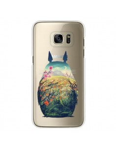 Coque Totoro Manga Comics Transparente pour Samsung Galaxy S7 Edge - Victor Vercesi