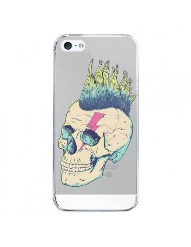 Coque iPhone 5/5S et SE Tête de Mort Crane Punk Transparente - Victor Vercesi