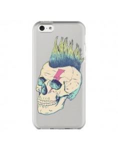 Coque Tête de Mort Crane Punk Transparente pour iPhone 5C - Victor Vercesi