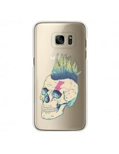 Coque Tête de Mort Crane Punk Transparente pour Samsung Galaxy S7 Edge - Victor Vercesi