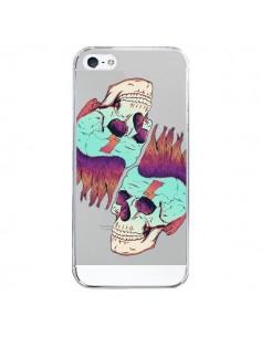 Coque Tête de Mort Crane Punk Double Transparente pour iPhone 5/5S et SE - Victor Vercesi