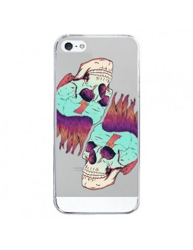 Coque iPhone 5/5S et SE Tête de Mort Crane Punk Double Transparente - Victor Vercesi